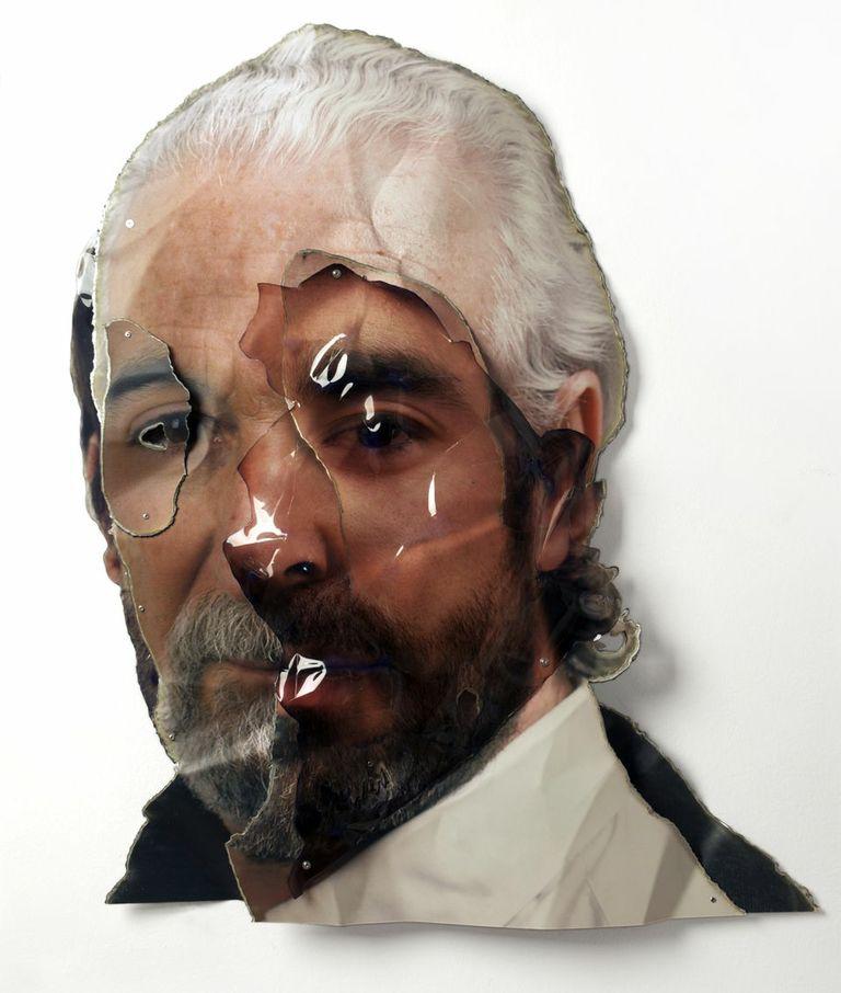 Germán Gómez - 'Estudio IX-IV' 2010 - 100 x 80 (C-Print on iron, duraclear and rivets)