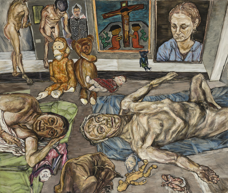 Erwin Pfrang - Ruhe mit Bonsai - 2014 - 110 x 130 cm